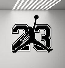 Air Jordan Sign Wall Decal 23 Jumpman Vinyl Sticker Decor Basketball Poster 847