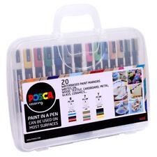 Uni Posca Art Markers Carry Case Pen Set 20 Colours / Sizes : PC-1 PC-3 PC-5