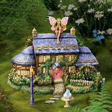 Morning Dew Cottage and Fairy Figurine - Thomas Kinkade Garden Fairy Village