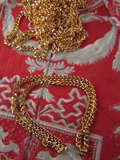 chaine collier doré 60 cm fantaisie gourmette a traiter