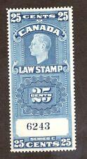 Canada Scott FSC24 - 25 Cent Law Stamp. MNH. OG.  #02 CANFSC24
