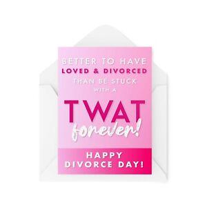 Funny Divorce Cards   Break Up Card For Her   Bestie Friend Divorced   CBH187