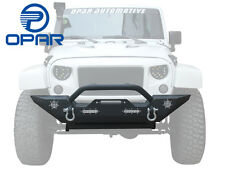 OPAR Rock Crawler Front Bumper D-Ring Winch Plate for Jeep Wrangler JK 2007-2017