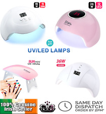 UV LED Nail Lamp W/ LEDs Nail Dryer Curing Polish Gels Polygel Manicure Pedicure