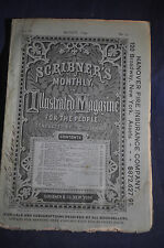 1872 *FIRST* Hans Christian Anderson Gardener & the Manor Scribners Magazine