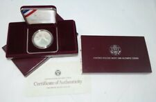 1988-S Us Olympic Commemorative Proof Silver Dollar Us Mint + Box & Coa