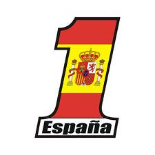 Sticker plastifié NUMBER ONE ESPAGNE Spain España - 11cm x 8m