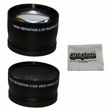 58MM X 2.2 Telefoto y 0.43 Gran Angular HD Objetivos w/ Macro Portion para Canon