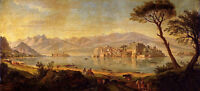 "48"" Oil Caspar Andriaans van Wittel - View Of Lake Maggiore With The Isola Bella"