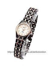 OMAX femmes cadran blanc de montre,noir / ROSE FINITION,SEIKO (Japon) mouvement