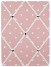 Polka dot (grey/pink/blue) memo board, notice board, pin board, 40x30cm