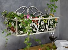 Fer Style Jardiniere Murale Plante Forge Balconniere Applique Fleurs Shabby Chic