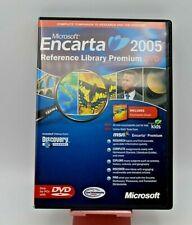 Encarta Reference Library Premium 2005 by Microsoft (2004, DVD)
