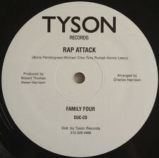 """FAMILY FOUR Rap Attack 12"""" Vinyl Re-issue Tyson Records US 12"""" Classic Hip-Hop"""