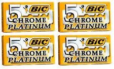 BIC Chrome Platinum Double Edge Safety Razor Blades, 20 Count