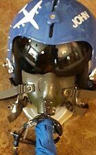 Gentex HGU-55/P Jet Pilot Helmet Lg. w/ Oxygen Mask -10 Miles High NIN