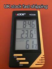Termometro DIGITALE LCD DA INTERNO Igrometro Temperatura Umidità Allarme Orologio da tavolo