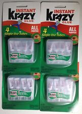 16 Tubes Instant Krazy Glue 4 Single-use Tubes All Purpose Lot Of 4 Packs