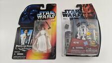 StarWars Leia Organa POTF Pistol Rifle & R2-D2 MH03 Action Lights & Sounds Droid