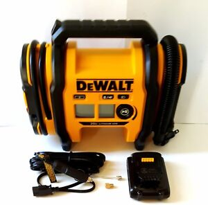 DEWALT 20V MAX HYBRID Corded/Cordless Air Inflator W/Battery, Adapters NEW
