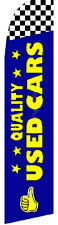 QUALITY USED CARS Bl Auto Dealer Swooper Banner Feather Flutter Curved Top Flag