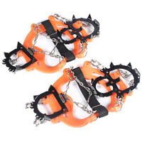 Ice Snow Shoes Spike Grip Boots Chain Crampons Grippers 12-teeth Point Anti Slip