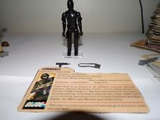 Vintage GI Joe figure 1982 Snake Eyes (straight arms) complete with file card