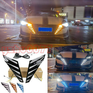 2021-2022 For Hyundai Elantra Front Grille LED Driving Lights Turn Signal 2PCS