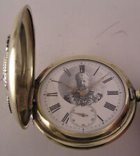 Fully Serviced Swiss MILITARY 1890 Pocket Watch Ferdinand I On The Dial Perfect