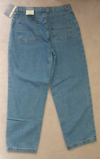 NWT Womens FADED GLORY Blue HEAVY DENIM JEANS 16 14 12 RELAXED 32x31 AT WAIST