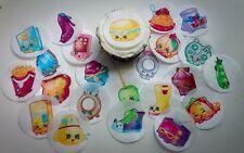 12 Shopkins SEASON 3 edible paper, cupcake cookie topper Decorations PRE CUT