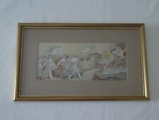 More details for antique classical aurora fresco silk embroidery picture