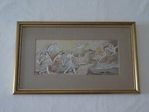 Antique Classical Aurora Fresco Silk Embroidery Picture