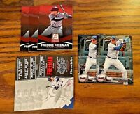 Freddie Freeman 9 card lot - Braves