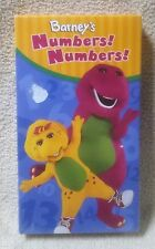 BARNEY NUMBERS! NUMBERS! Vhs Video Tape Purple Dinosaur 2004 HIT Ent. NEW Sealed