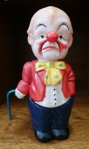 """1940's Vintage Occupied Japan """"Funny Man"""" Celluloid Windup Toy"""