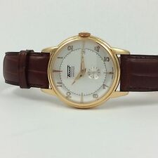 TISSOT HERITAGE AUTOMATIC CHRONOMETER 18K ROSE/PINK GOLD BROWN LEATHER WATCH