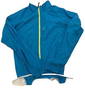 Bontrager Men's Blue Full Zip Race Windshell Windbreaker Jacket Size Large