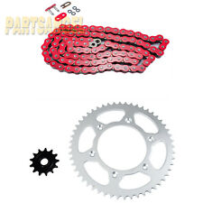 Red O-Ring Chain Sprocket Kit For 2000 2001 Honda CR125 RY,R-1
