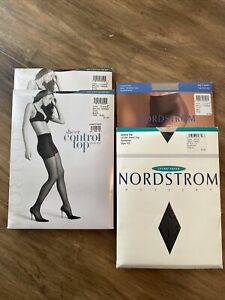 LOT of 4 Nordstrom Sheer Control Top Pantyhose Control Top Size Plus New