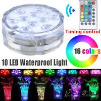 Luce a LED RGB subacquea sommergibile con telecomando multicolore per piscina