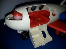 Vintage 1970 Fisher Price little people Play Family Avion Fun Jet plane