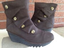 Bernie Mev Women's 'Mae' Ankle Boot Wedge Brown Leather Size 38 EU 8 US
