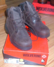 Wolverine W08169 Size 10EW Soft Toe Brown Leather Mens Work Construction Boot