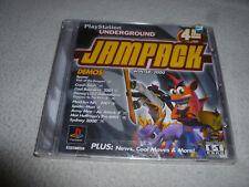 SEALED NEW PLAYSTATION UNDERGROUND JAMPACK WINTER 2000 GAME CRASH BASH DEMOS >>
