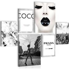 WANDBILDER SET XXL BILDER Vogue VLIES LEINWAND BILD WOHNZIMMER 90 x 80 cm
