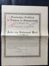 Gemeinnützige Ges. zur Verbesserung der Wohnungsverhältnisse, 1892