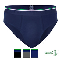3 Pack Men Slip Brief Bamboo Cotton Mix, Luxe Velvety Soft Durable Breathable