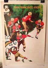 ORIGINAL NFL San Francisco 49er's 1968 NFL Collector Series Football Poster