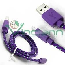 Cavo dati Tessuto Nylon VIOLA per Wind Smart 5.0'' cavetto USB carica